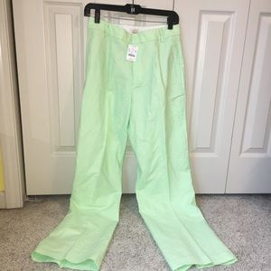 NWT J. Crew Green Trousers